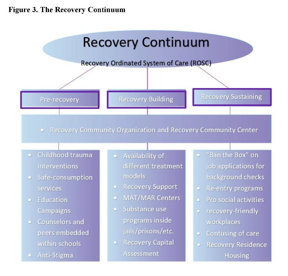 Figure 3. The Recovery Continuum. Source: California Consortium of Addiction Programs and Professionals